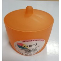 AURORA SEMI TRANSLUCENT JELLY COLOUR RANGE STORAGE JAR WITH LID - VARIETY OF COLOURS - COLOURS MAY VARY