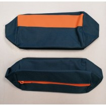 AVON Mens Cosmetic Zipper Bag - Orange/Grey - 30 x 12cm