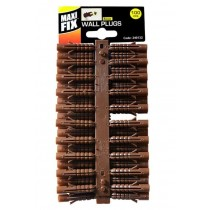 Maxi fix Wall Plugs - Brown - 8mm - Pack of 100