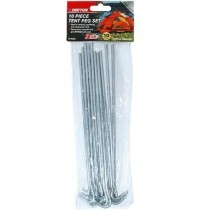 Dekton Heavy Duty Tent Peg Set - 23cm - Pack of 10