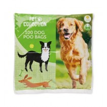 Pet Collection Lemon Scented Dog Poo Bags With Tie Handles - Pack Of 100