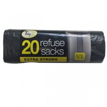 Extra Strong Refuse Sacks - 50L - Pack Of 20
