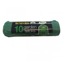 Extra Strong Garden Bags With Tie Handles - Pack Of 10 - 50L