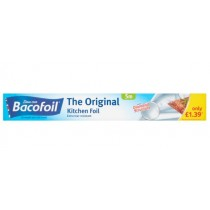 Bacofoil The Original Kitchen Foil - Extra Tear Resistant - 5m x 30cm - Price Marked £1.39