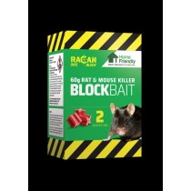 Home Friendly Block Bait Rat & Mouse Killer - 60g - Pack of 2 Blocks - Exp 04/20