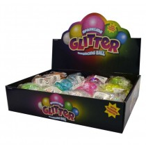 Sparkling Glitter Bouncing Ball - 5.5cm - Assorted Colours