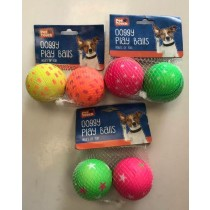 Pet Touch - Doggy Bouncy Play Balls - Colours And Designs May Vary - Pack Of 2