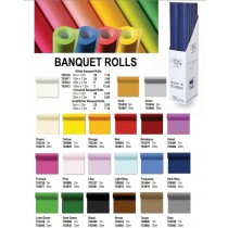 RC Banquet Roll Table Cloth - White - 10 x 1.2m