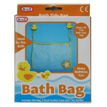 A to Z Duck Bath Bag with Toy Starfish - 35 x 25cm