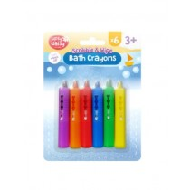 Upsy Daisy Scribble & Wipe Bath Crayons - Assorted Colours - Pack of 6