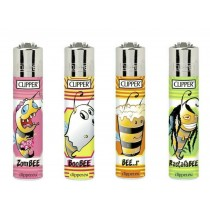 Clipper Classic Large Reusable Lighters - Bees 2 - Assorted Colours & Designs