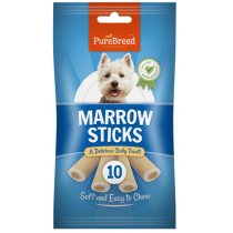 Pure Breed Daily Treats Marrow Sticks for All Dogs - Pack of 10 - 200g