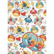 Twirly Woos Gift Wrapping Papers & Tags - Pack of 2 - 50cm X 69.5cm