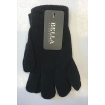 Bella Winter Gloves for Girls - Black