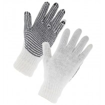 Easi Safe Work Wear PVC Polka Dot General Purpose Work Gloves - Black - Medium