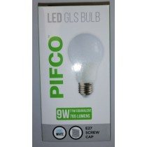 Pifco LED GLS Bulb - E27 Screw Cap - Cool White - 9W - 765 Lumens