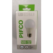 Pifco LED GLS Bulb - E27 Screw Cap - Cool White - 60W - 595 Lumens