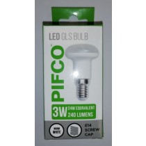 Pifco LED GLS Bulb - E14 Screw Cap - Warm White - 3W - 240 Lumens