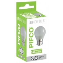 Pifco LED Golf Bulb - B22 Bayonet Cap - Warm White - 5W - 320 Lumens