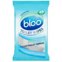 BLOO TOILET WIPES - OCEAN MIST - PACK OF 40