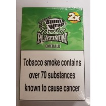 Original Blunt Wrap Double Platinum Emerald - Pack Of 50