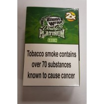 ORIGINAL BLUNT WRAP DOUBLE PLATINUM GREEN - PACK OF 50