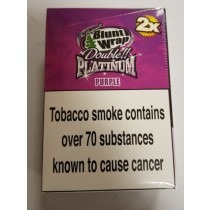 Original Blunt Wrap Double Platinum Purple - Pack Of 50