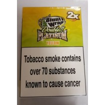 Original Blunt Wrap Double Platinum Yellow - Pack Of 50
