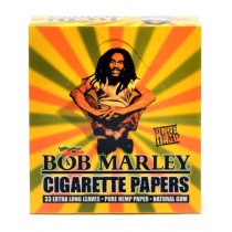 Bob Marley Cigarette Papers - 33 Extra Long Leaves- Pure Hemp- Natural Gum - Pack Of 50