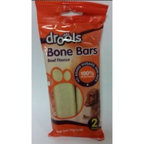 DROOLS BONE BARS FOR DOGS - BEEF FLAVOUR - NO ADDED SUGARS AND FATS - 100% VEGETARIAN - PACK OF 2