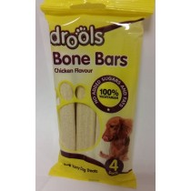 Drools Bone Bars For Dogs - Chicken Flavour - No Added Sugars And Fats - 100% Vegetarian - Pack Of 4