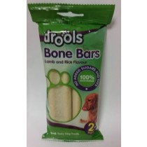 Drools Bone Bars For Dogs - Lamb And Rice Flavour - No Added Sugars And Fats - 100% Vegetarian - Pack Of 2