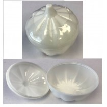 Unistyle Plastic Garlic Shape Container With Lid - 7.5Cm Diameter