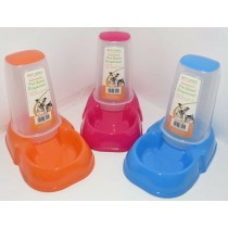 Pet Living Automatic Pet Bowl Dispenser - 21 x 13cm - Colours May Vary