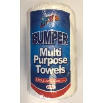 Bumper Multi Purpose Kitchen Tissue Paper Towels - 2 Ply - Roll Of 220 Sheets