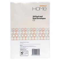 Sainsbury's Home C5 Peel and Seal Envelopes - Pack of 20 - 162 x 229mm