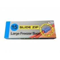 Set of 15 Slide zip freezer bags