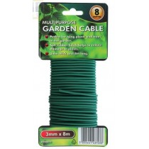 Multipurpose Garden Cable - Green - 3mm x 8m