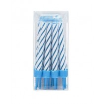 Shearer Blue Birthday Candles with Holders - Pack of 16