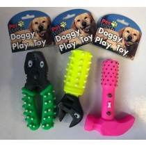Pet Touch - Squeaky Doggy Play Toy Tools - Shapes Vary