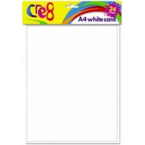 Cre8 A4 White Card - Pack of 24