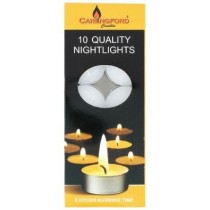 Carlingford Quality Night Light candles - Pack of 10