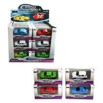 Power Driving Die Cast Alloy Sports Car Models - 12.5 x 6.5 x 6.5cm - Shapes & Colour May Vary