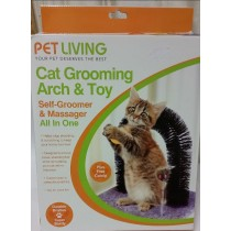 Cat Grooming Arch And Toy - Self Groomer And Massager All In One