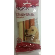 DROOLS CHEW ROLLS - BEEF FLAVOUR - NO ADDED SUGARS AND FATS - PACK OF 3