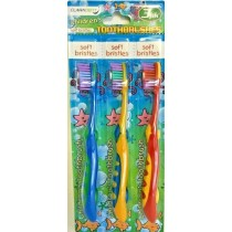 Claradent Children's Toothbrush - Soft - Assorted Colours - Pack of 3