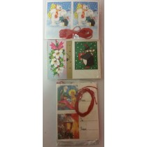 Pack Of Christmas Gift Tags - Colours And Designs Vary