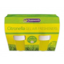 151 Chatsworth Citronella Gel Air Fresheners for Outdoor Use - Pack of 2 - 141grams