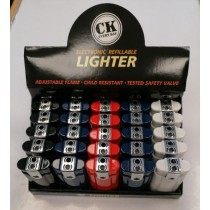 CK Everyday Electronic Refillable Double Flame Lighters - Assorted Colours