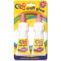 Cre8 Stick It Washable Children Arts & Crafts Glue - Clear - 80ml - Pack of 2